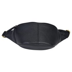Unisex Plain Leather Belly Pouch