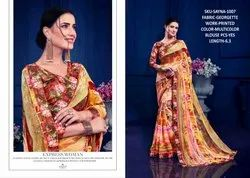 Rachna Georgette Sayna Catalog Saree Set For Woman 7