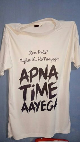 3b51151f YouWe Fashion Black Apna Time Ayega T Shirt, Rs 160 /piece   ID ...