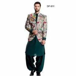 Diwan Saheb DF-811 Mens Pathani Suit with Coat