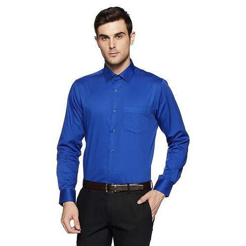 9041ac7881c Men  s Cotton Blend Plain Slim Fit Formal Shirt