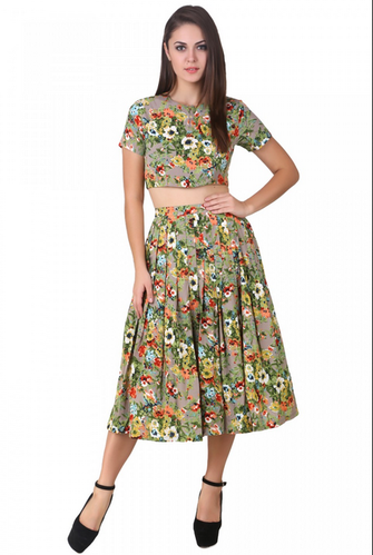 280639caef3b5c Floral Crop Top And Skirt, Skirt & Top, Top and Skirt, स्कर्ट ...