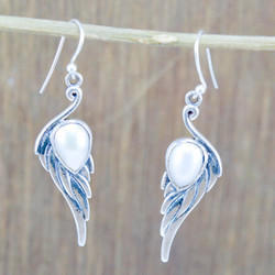 Pearl Gemstone 925 Sterling Silver Jewelry Earring