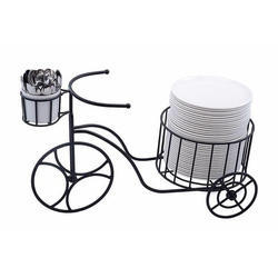 Cutlery & Plate Stacker Cart for functions
