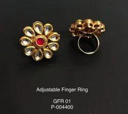 Artificial Golden Finger Ring