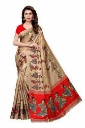 Keshvi Fashion Khadi Silk Jhalor Sarees