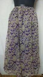 Chiffon Long Skirt