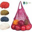 organic cotton colour string bag
