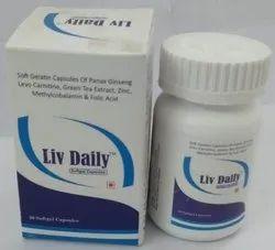 Panx Ginseng Levo Carnitine Green Tea Extract Zinc Methylcobalamin And Folic Acid Capsules