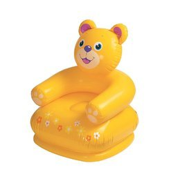 Yellow, Blue Plastic Intex Happy Animal Inflatable Chair 68556, Size: Small