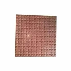 Red Cement 12x12 Inch Checkered Tiles