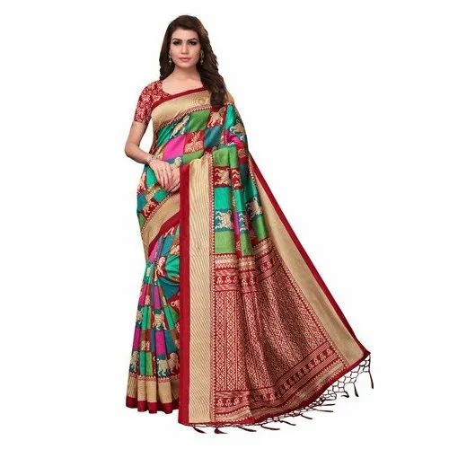 ba630c9494 Designer Mysore Silk Saree, 5.5 m (separate blouse piece)