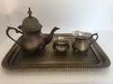Smokey Brass Antique Brass Tea Set