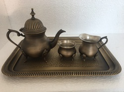 Antique Brass Tea Set