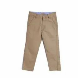 Brown Regular Fit Mens Cotton Trousers, 28-38