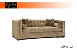 Beige 3 Seater Fabric Sofa, Home/Office/Lobby Sofa