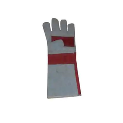 Free Size Leather Safety Hand Gloves