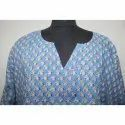 Hand Block Printed Cotton Long Kaftan Dress Women's Party Wear Kaftan Dress
