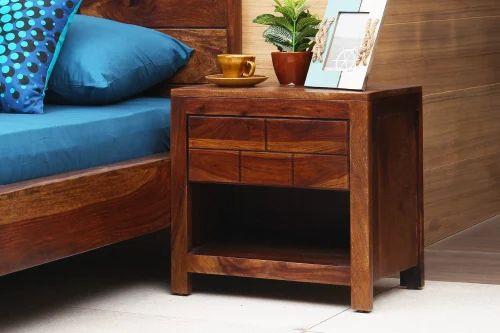 New Myra Sheesham Wood Bed Side Table