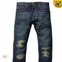 Mens Ripped Denim Jeans