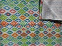 Indian Cotton Ikat Kantha Bed Quilt