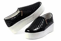 Black Girls Zipper Shoes