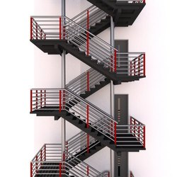 Mild Steel Fire Exit Staircase