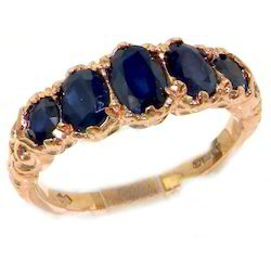 Sapphire Gold Rings