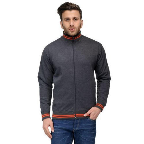 Small And Medium Plain Zip Jacket