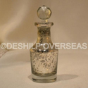 Deshilp Overseas Glass Decanter Silver Perfume Bottle