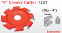 1221 V Groove Cutter