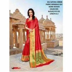Rachna Banarasi Silk Satvika Catalog Saree Set For Woman 8