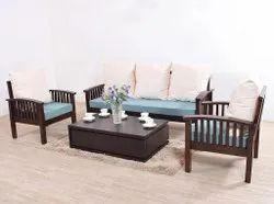 Aditya Furniture Brown Designer Wooden Sofa Set, For Home