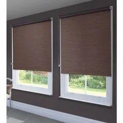 Brown Modern PVC Window Roller Blind, for Home