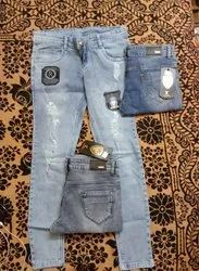 Stretchable And Stretchable Skinny And Skinny Fancy Jeans For Girls