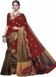 Printed Silk Saree, Length: 6.3 m