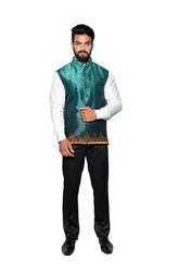 Men Printed Jawahar Cut Jacket CPS162