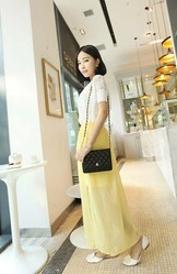 Yellow Chiffon Short Long Fairy Skirt