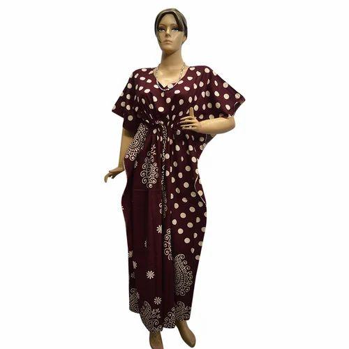 a73970614 Medium Long Ladies Kaftan Nighty