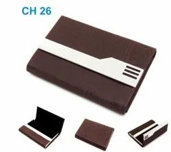 Leather Multicolor Personalized Card Holder, For Promotional