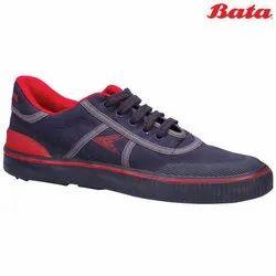 Bata Power Match Blue Lace Up School Canvas Shoes, Size: 2-5 (uk)