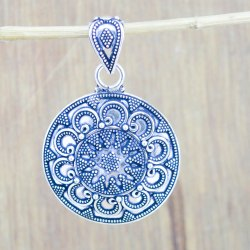 925 Sterling Solid Silver Jewelry Women's Plain Pendant Wp-5638
