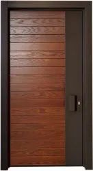 Modern Brown Pine Wood Door