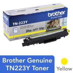 Brother Genuine TN223Y Standard Yield Toner Cartridge