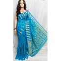 Blue Dhakai Jamdani Saree