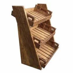 Floor Mounted Wooden Rack