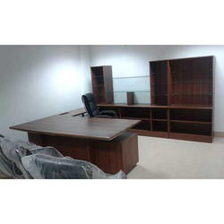 Executive Brown Wooden Office Table