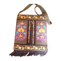 Hand Made Embroidered Suede Leather Sling Bag