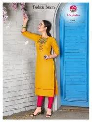 Ruby Silk Embroidered Kurti