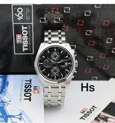 Men Round Silver SS Watch for Daily